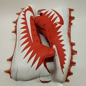 Nike Red Alpha Menace Pro Mid Football Cleats